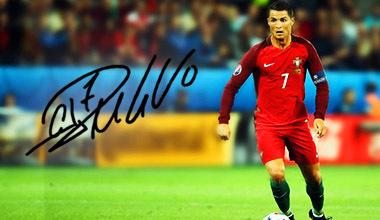 Sorteio bola EURO'16 autografada pelo CR7